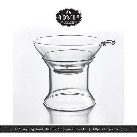 Old Village PuEr Tea Borosilicate Glass Filter with Stand - OVP Tea