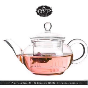 Old Village PuEr Tea Borosilicate Glass Teapot, mini - OVP Tea