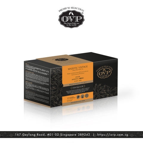 MAJESTIC VINTAGE® Old Village PuEr Tea Gift Box - OVP Tea