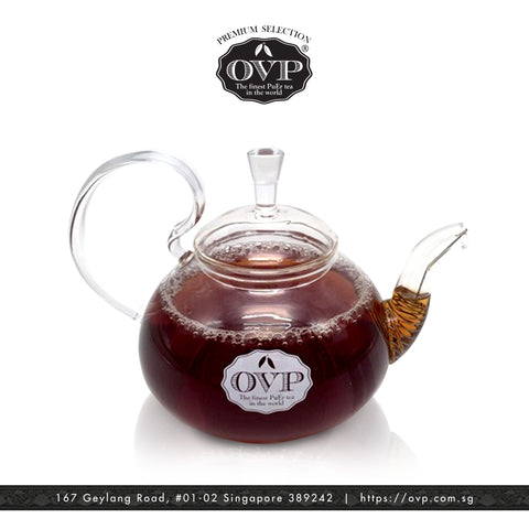 Old Village PuEr Tea Borosilicate Glass Teapot - OVP Tea