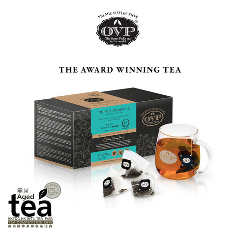 TROPICAL ROMANCE® Award-Winning Old Village Aged Liu Pao Tea Gift Box - OVP Tea