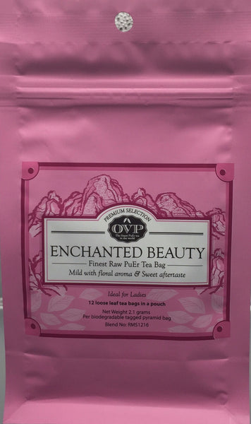 ENCHANTED BEAUTY® Old Village PuEr Tea Pouch - OVP Tea