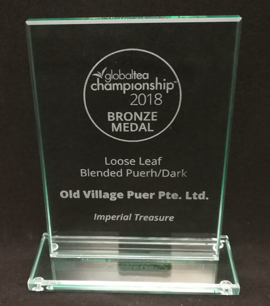 IMPERIAL TREASURE, Award-Winning Old Village Jasmine PuEr Loose Tea in Tin - OVP Tea