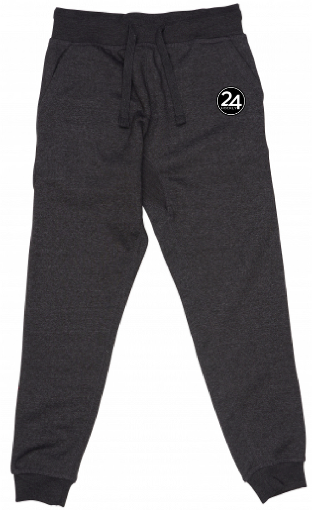 24 HOCKEY JOGGERS - CHARCOAL HEATEHR