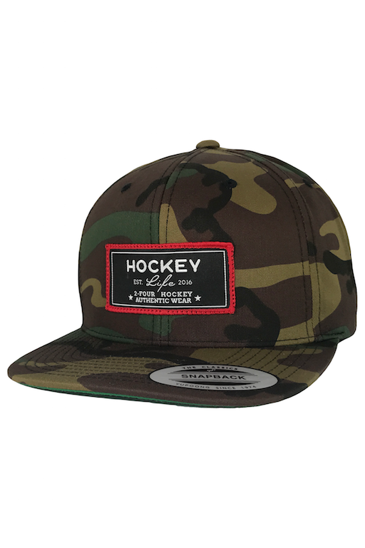 24 Hockey Apparel Baseball Hat Black