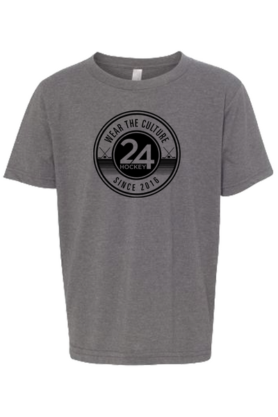 Hockey Apparel - 24 Hockey Youth Tee Circle Drills