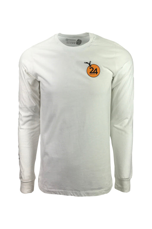 Men's 24 hockey white hockey apparel long sleeve t-shirt