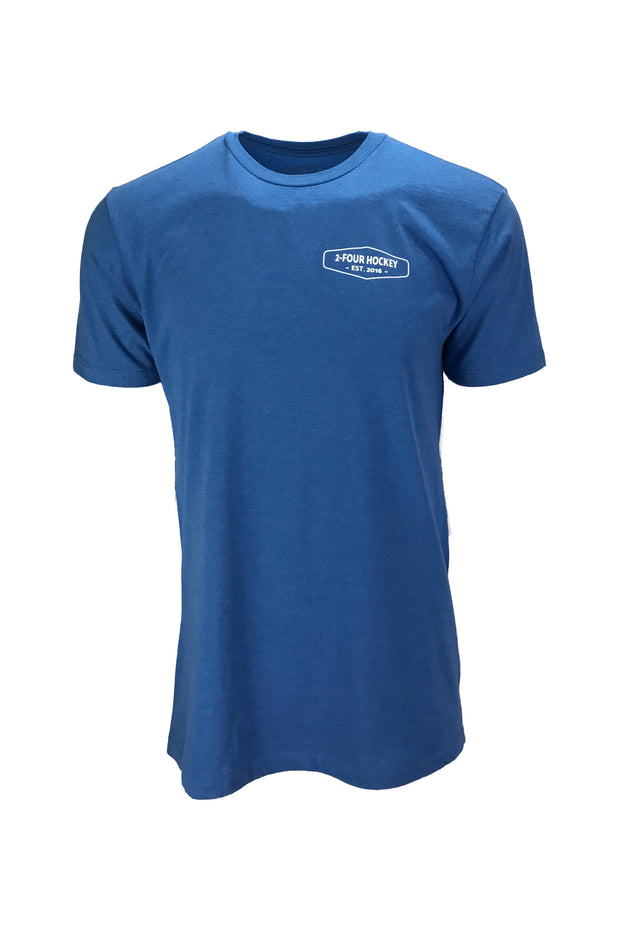 Men's coast to coast blue hockey apparel t-shirt