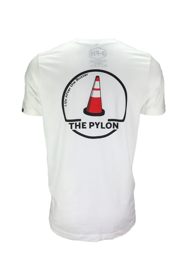 Men's the pylon white hockey apparel t-shirt
