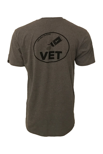 Men's seasoned vet grey hockey apparel t-shirt