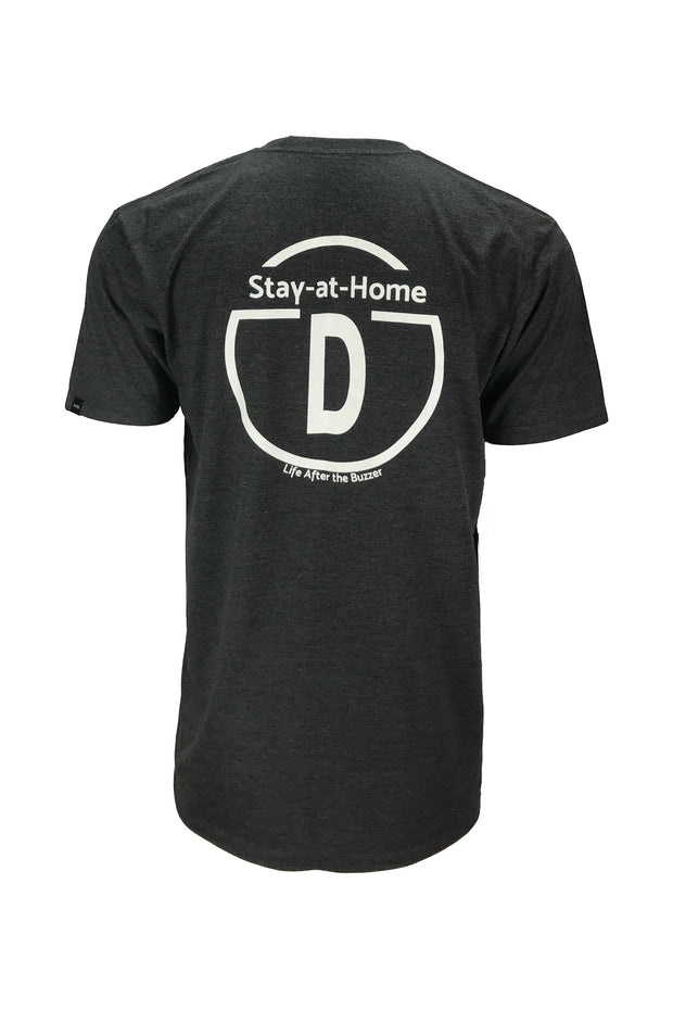 Men's stay at home d black hockey apparel t-shirt