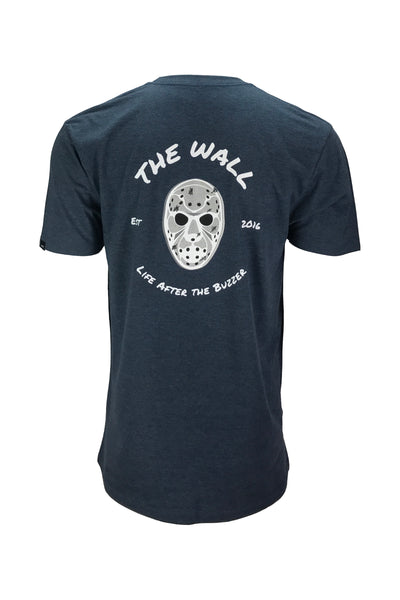 Men's the wall navy hockey apparel t-shirt