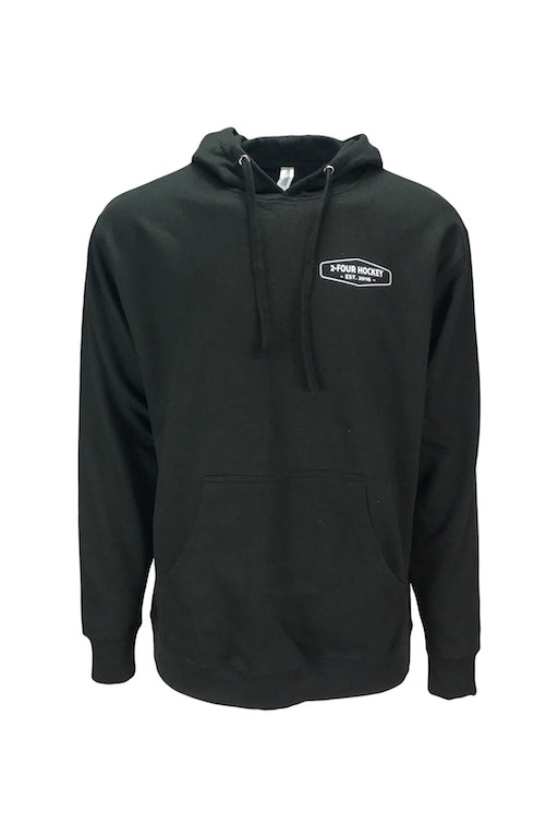 Men's 24 hockey black hockey apparel hoodie