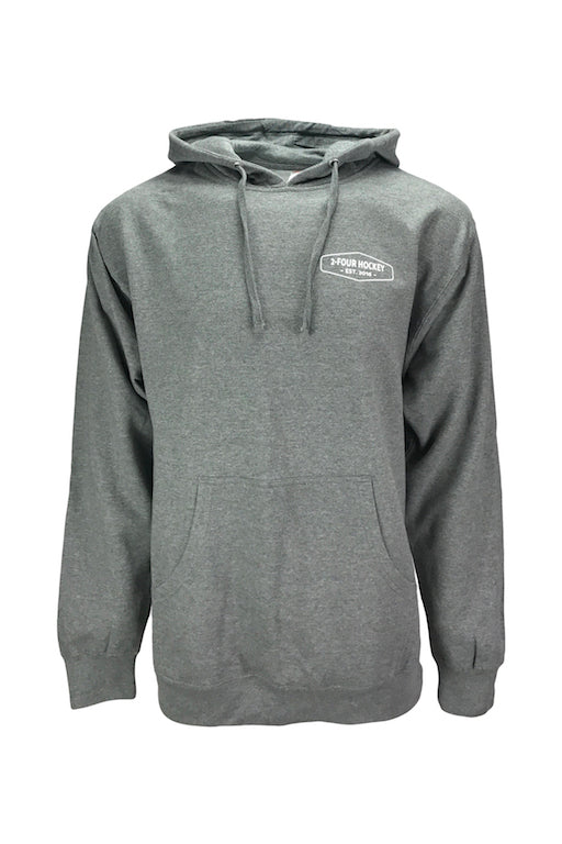 Men's 24 hockey grey hockey apparel hoodie