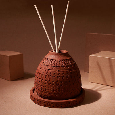 Reed Diffuser Set Terracotta