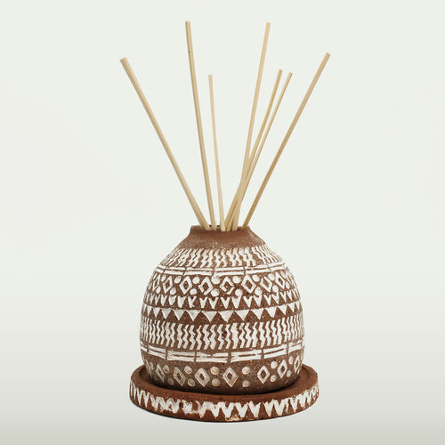 Reed Diffuser Set Terracotta White