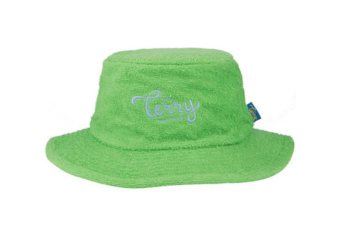 Kids Daintree Narrow Brim Terry Bucket Hat - Green