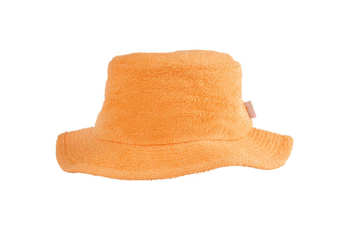 Terry Towelling Bucket Hat Narrow Brim-Mango