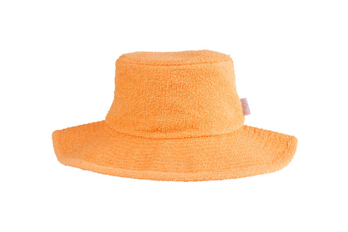 Terry Towelling Bucket Hat Wide Brim-Mango