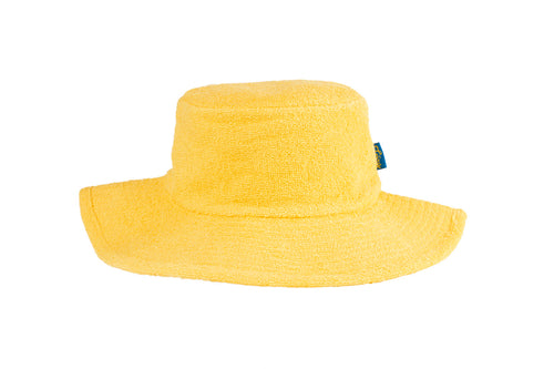 Kids Essential Plain Terry Hat - Yellow