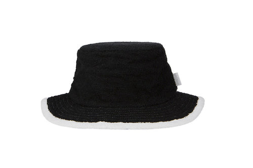 Kids - Plain Black & White Narrow Brim Hat