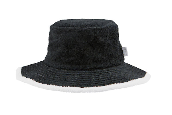 a09c1d8e2f9 Kids Plain Terry Towelling Bucket Hat -Black White – The Terry Australia