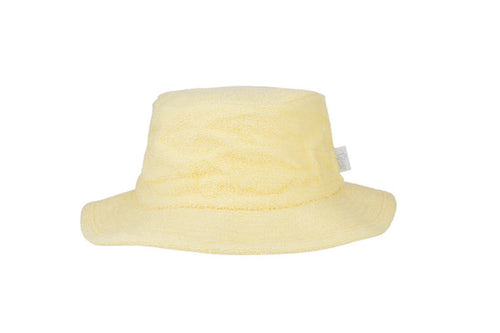 Kids Essential Plain Narrow Brim Terry Hat - Butter