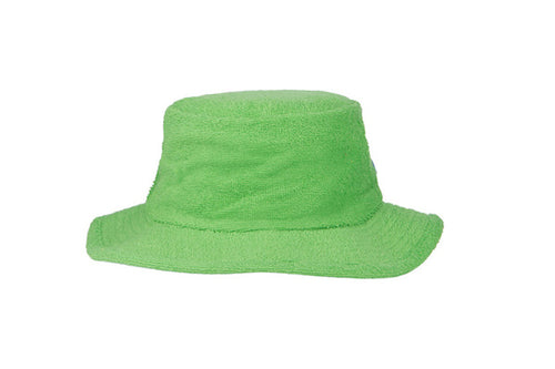 Terry Towelling Bucket Hat Narrow Brim - Green