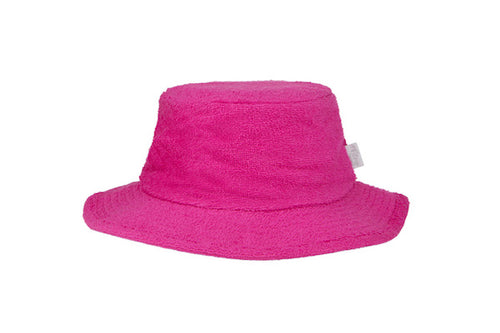 Terry Towelling Bucket Hat Narrow Brim- HotPink
