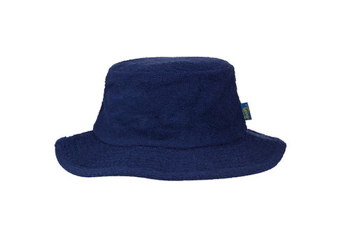 Terry Towelling Bucket Hat Narrow Brim-Navy