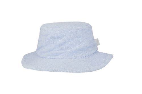 Terry Towelling Bucket Hat Narrow Brim- Pale Blue