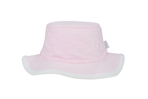 Kids Plain Narrow Brim Hat-PalePink/White