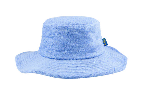 Terry Towelling Bucket Hat-Wide Brim SkyBlue