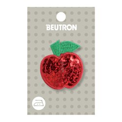Sequin Red Apple Iron on Motif