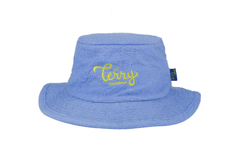 Kids Ella Narrow Brim Terry Bucket Hat-Sky Blue