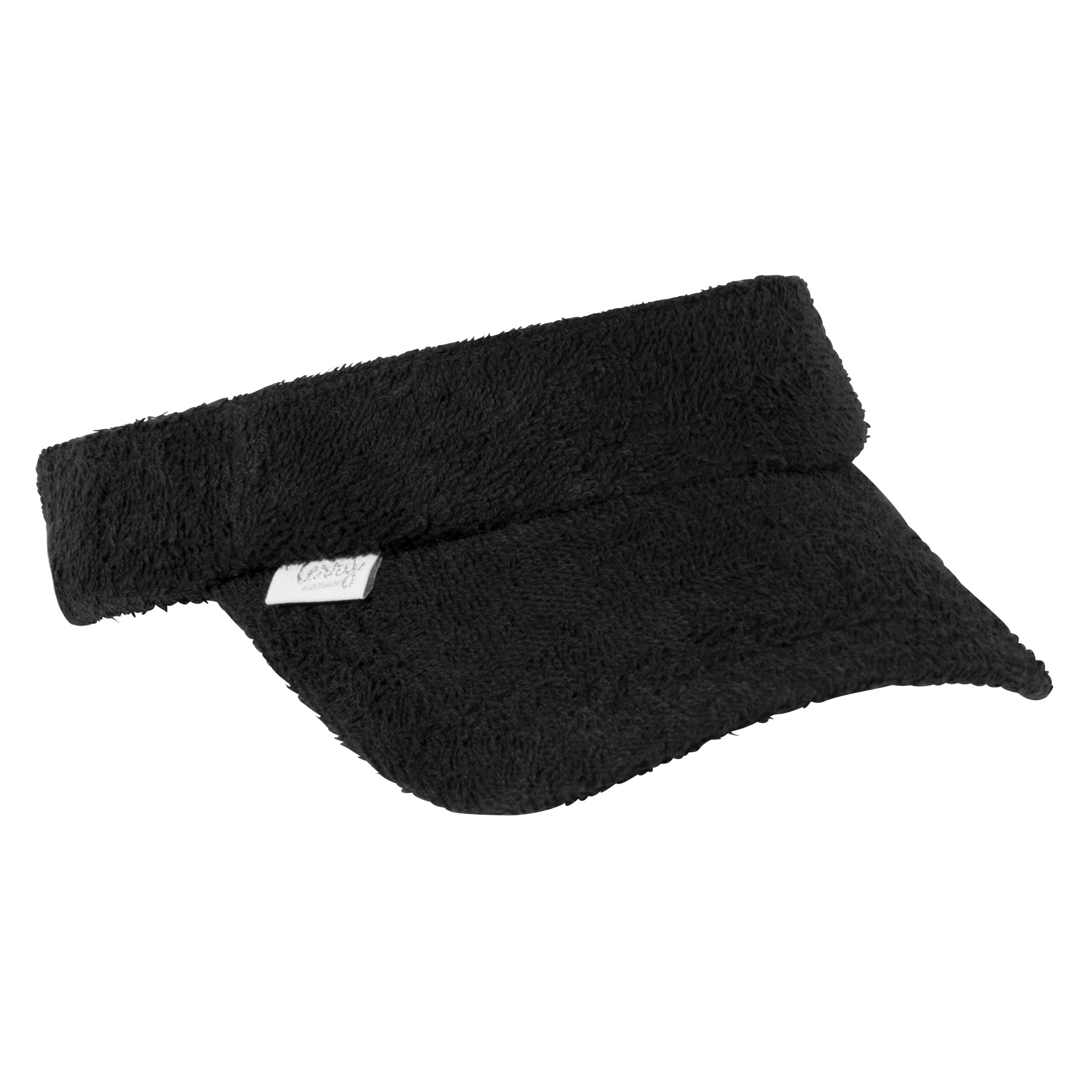Black Terry Towelling Visor - The Terry Australia