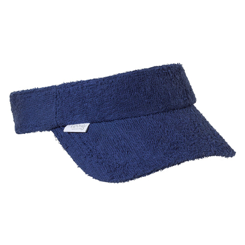 Kids Terry Towelling Visor - Navy Blue