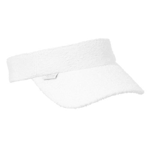 Kids Terry Towelling Visor - White