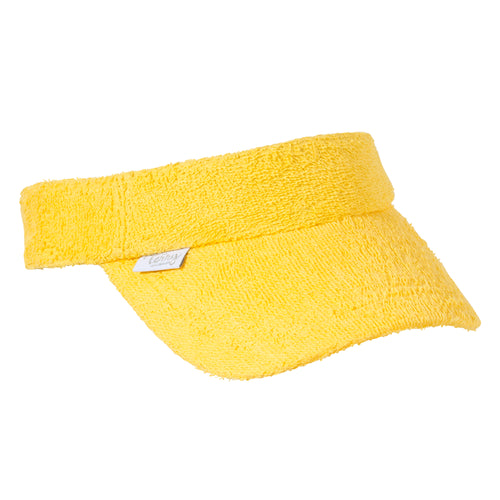 Kids Terry Towelling Visor - Yellow