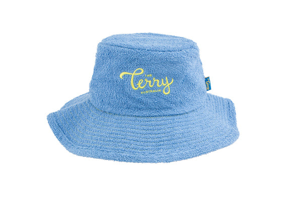 The Terry Towelling Bucket Hat -Mid Blue – The Terry Australia 3f8270456ed