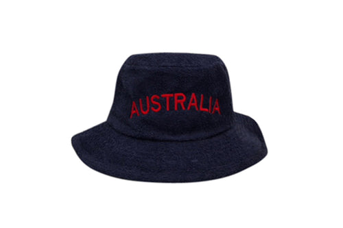 Australia Navy Blue BBQ Narrow Brim Terry Towelling Hat