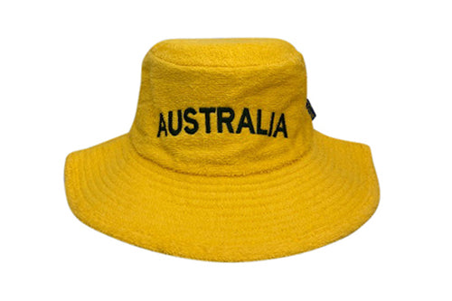Australia Yellow Wide Brim Terry Towelling Hat