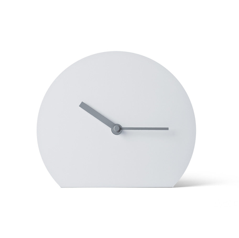 Steel Stand Clock: Light Grey | Arlo Interiors