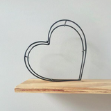 White Moose Heart Wire Shape | Arlo Interiors