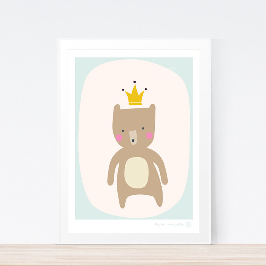 King Ted Art Print