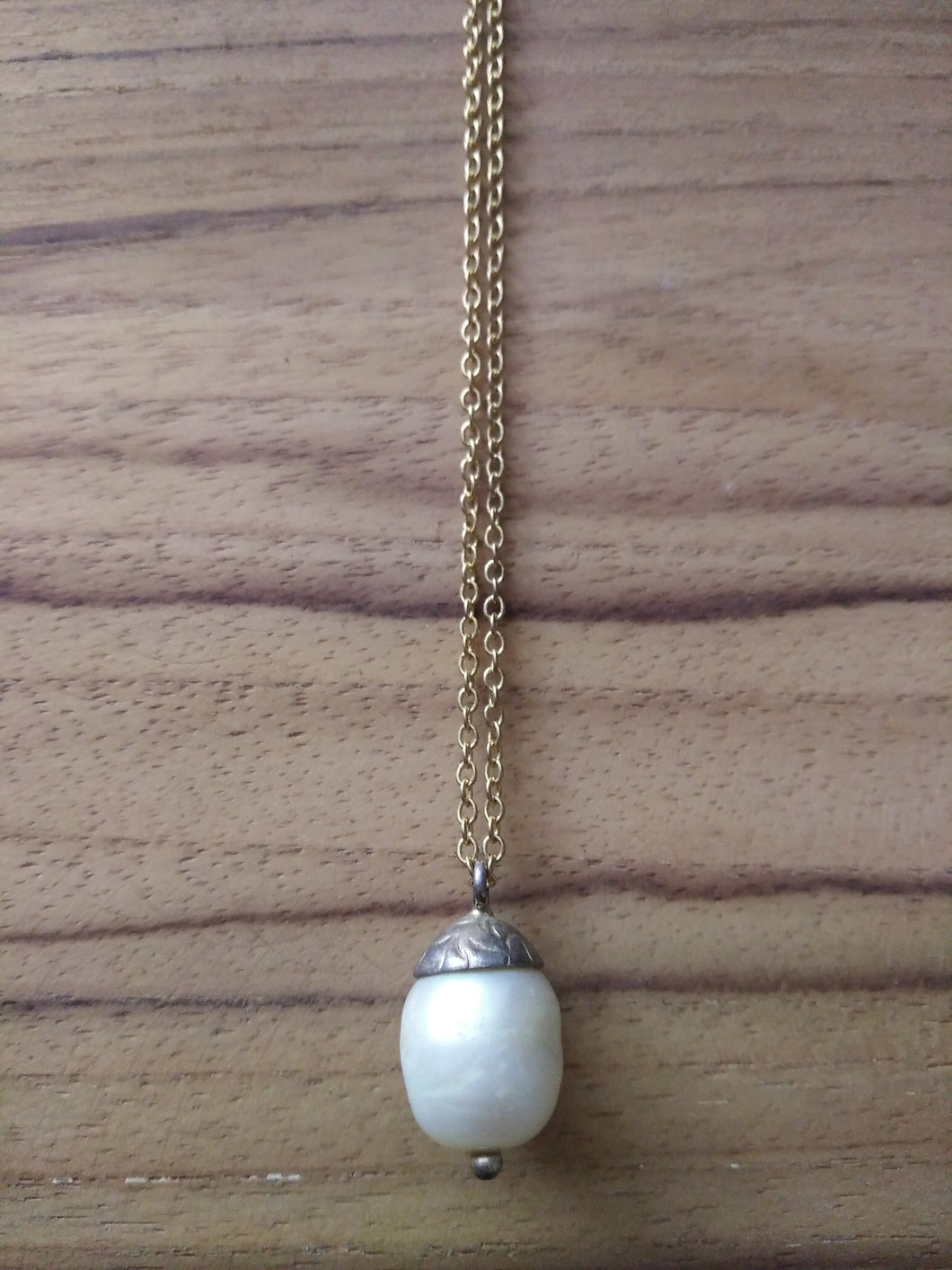 Necklace Pendant Nut Pearl