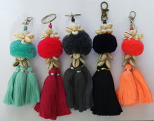 Keychain Triple Tassel With Shell A