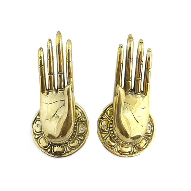 Door handle hands brass