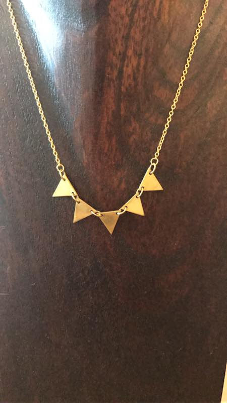 Necklace Geometric Five Triangle