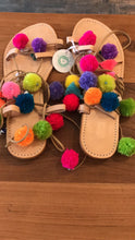 Slipper Cute Pompom With Leather U